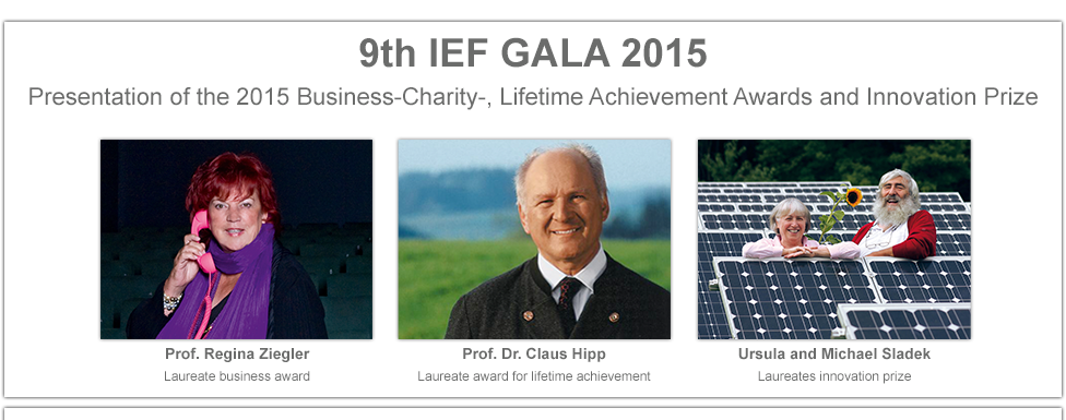 Award and prize winners IEF GALA 2015